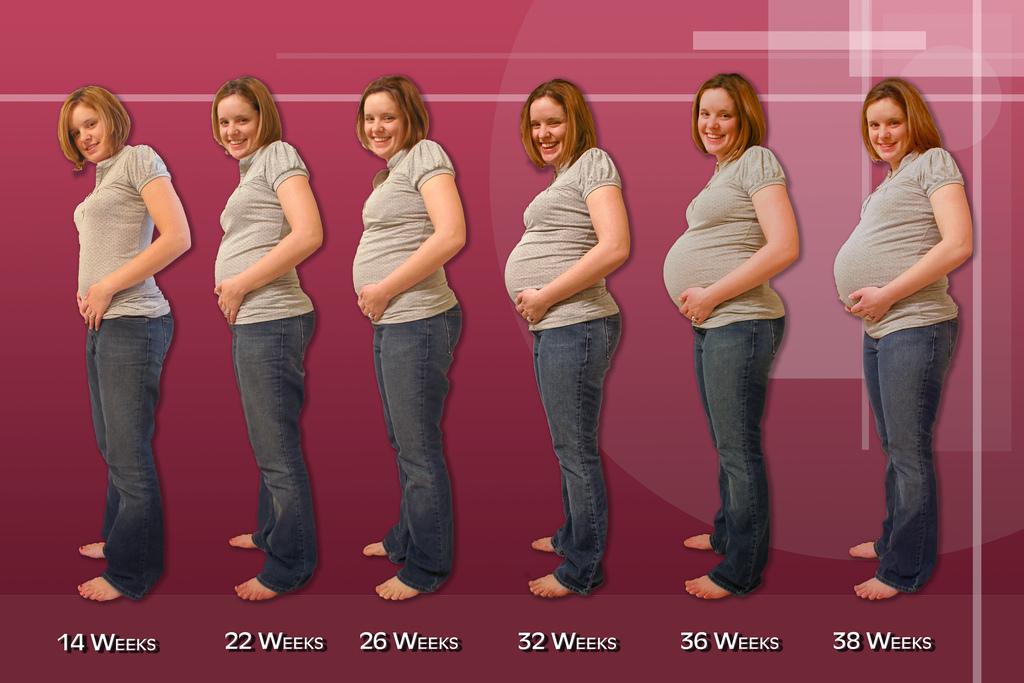 Pilvo apimtis 32 nestumo savaite
